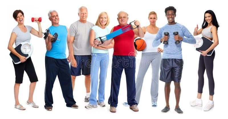 Атлетическая группа людей стоковая фотография rf