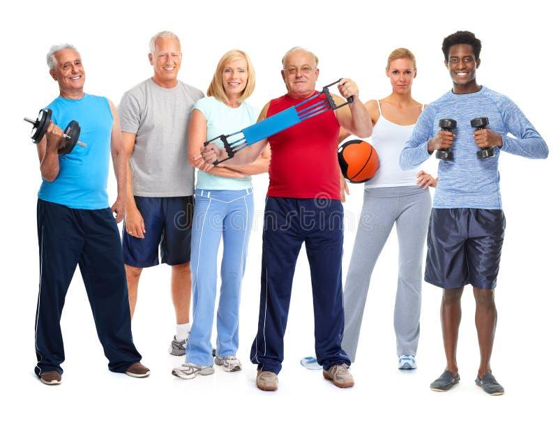 Атлетическая группа людей стоковая фотография