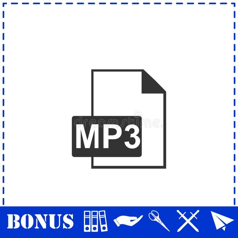 Аудио значок файла плоско иллюстрация штока