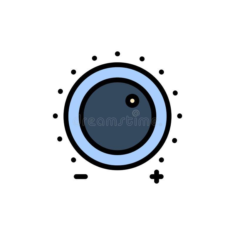 Аудио, контроль, увеличение, уровень, ядровый плоский значок цвета Шаблон знамени значка вектора бесплатная иллюстрация