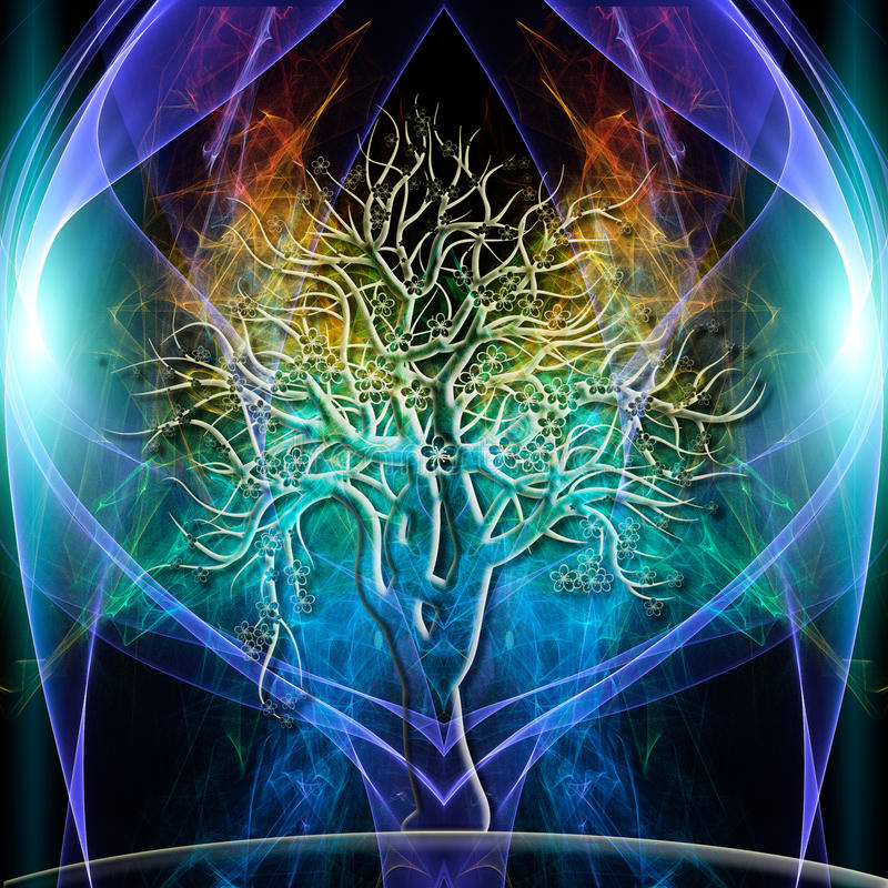 Аура дерева иллюстрация штока