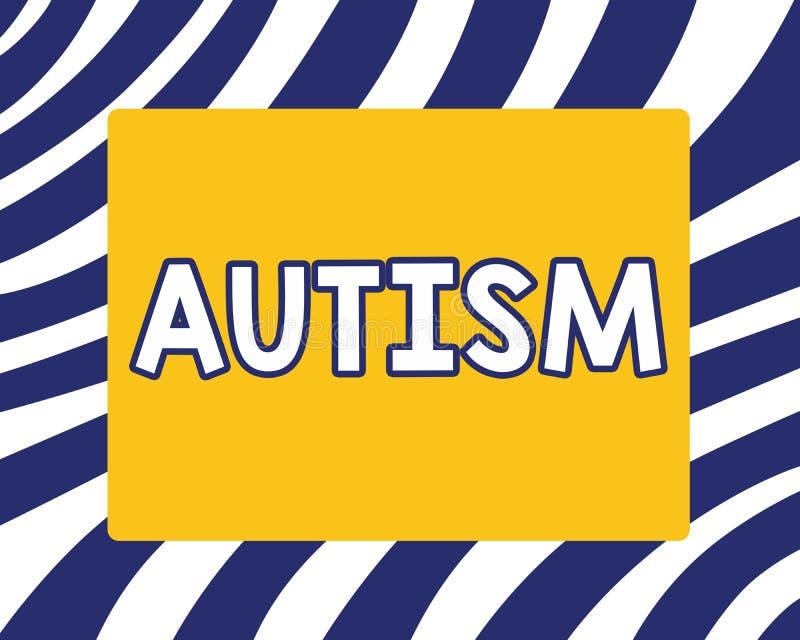 Аутизм сочинительства текста почерка Затруднение смысла концепции во взаимодействовать и формировать дела с другим показом иллюстрация вектора