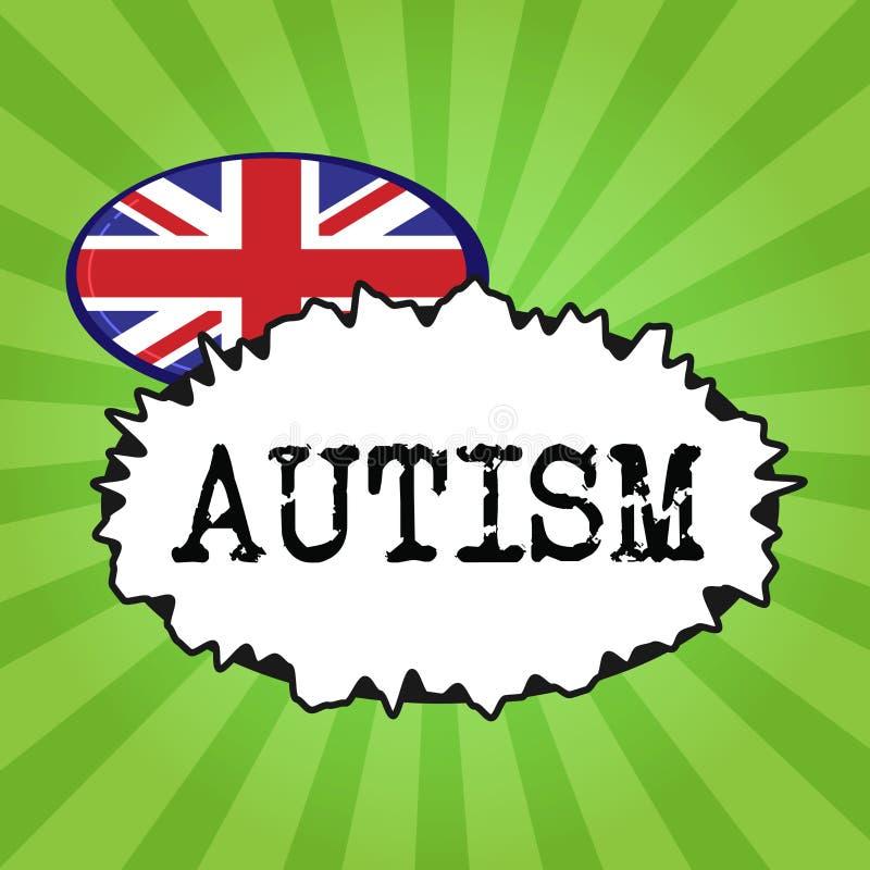 Аутизм сочинительства текста почерка Затруднение смысла концепции во взаимодействовать и формировать дела с другим показом бесплатная иллюстрация