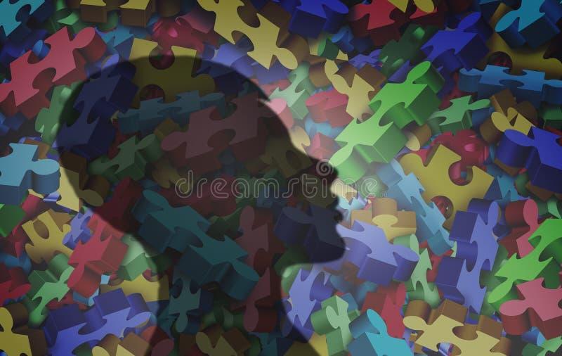 Аутистические психические здоровья диагноза бесплатная иллюстрация