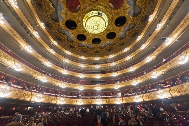 Аудитория на концерте Beethoven в Gran Teatre del Liceu стоковое изображение rf