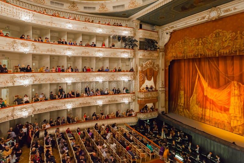 Аудитория театра Mikhailovsky, StPetersburg стоковые изображения rf