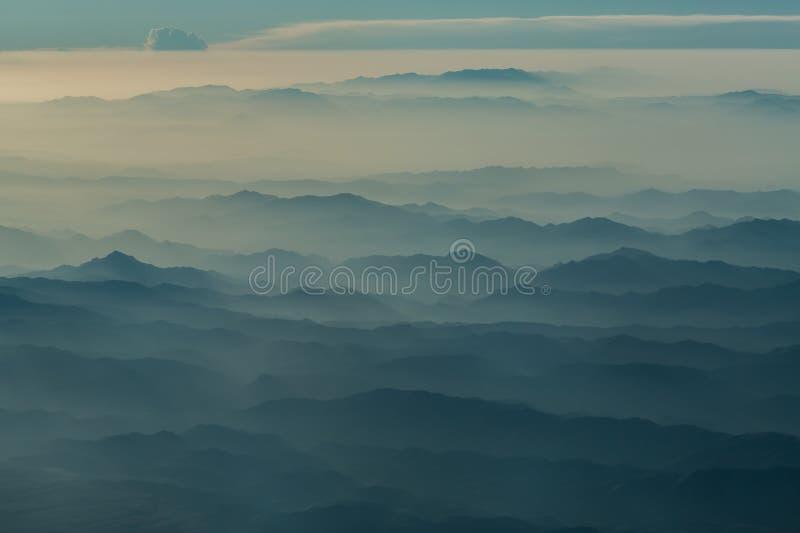 Афганистан в тумане стоковое изображение rf