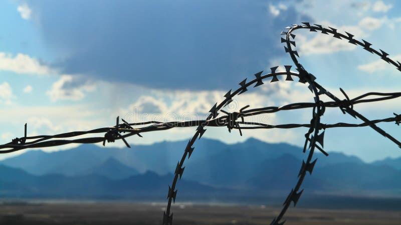 Афганистан за загородкой страны стоковые фото
