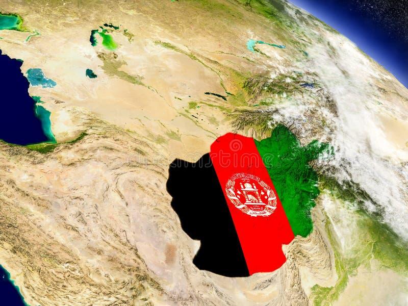 Download Афганистан с врезанным флагом на земле Иллюстрация штока - иллюстрации насчитывающей карта, стратосфера: 81804784