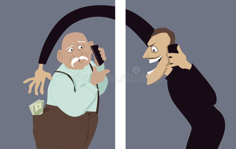 Афера телефона иллюстрация штока