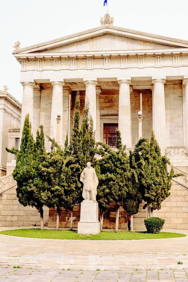 Афины, национальная библиотека Греции, туристической достопримечательности стоковое фото rf