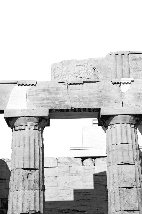Афин в Греции старая архитектура и историческое место разделяет стоковая фотография