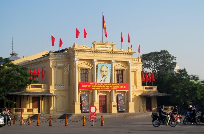Афиша пропаганды Вьетнама социалистическая на улице стоковое изображение