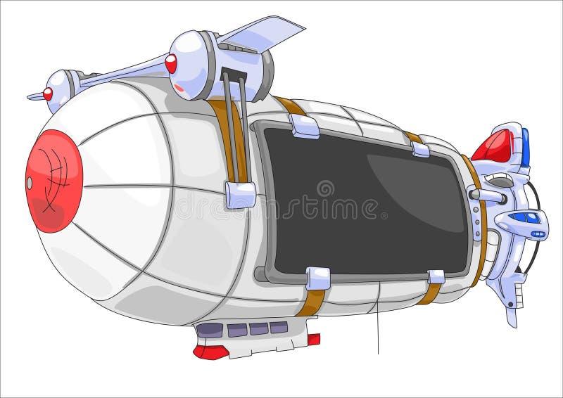 афиша airship бесплатная иллюстрация