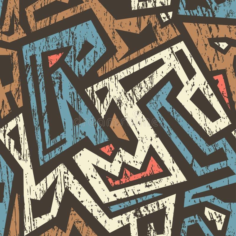 Африканская безшовная картина с влиянием grunge бесплатная иллюстрация