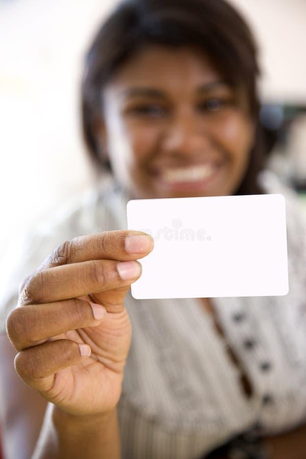 африканская визитная карточка показывая женщину стоковые фотографии rf