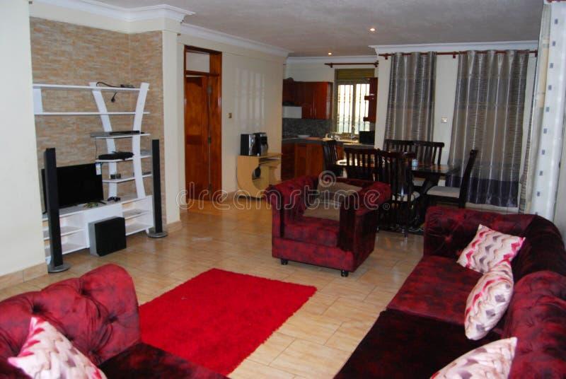 Африканская гостиная, готовая с кусочком ума стоковое изображение