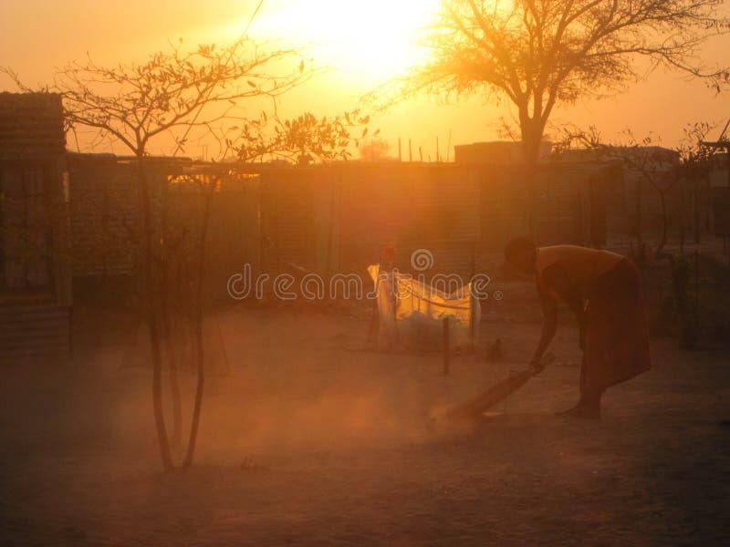 Африканская деревня стоковое фото rf