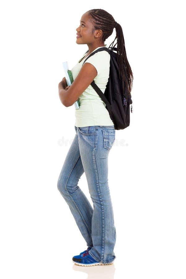 Африканская девушка коллежа стоковое фото rf