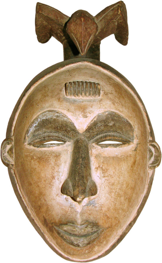 африканская изолированная маска стоковая фотография
