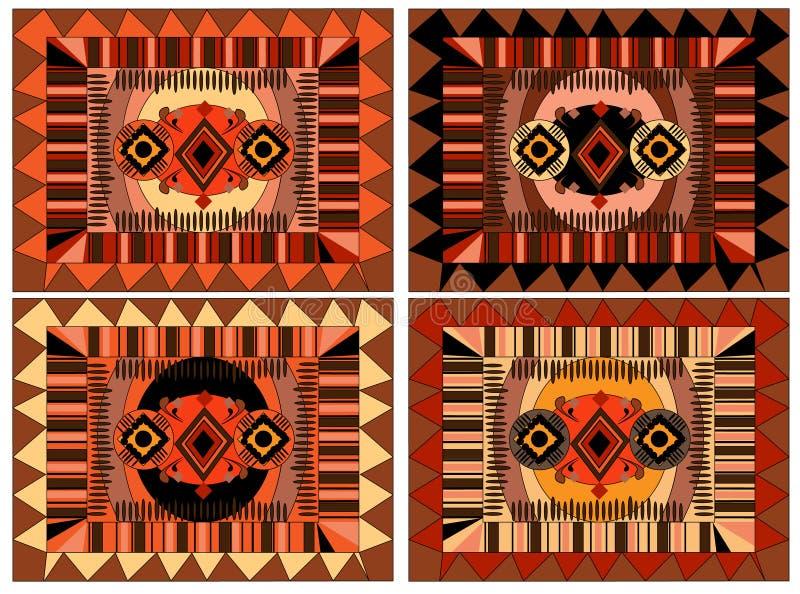 Африканская и арабская картина, орнамент коричневых и оранжевых цветов стоковые фотографии rf