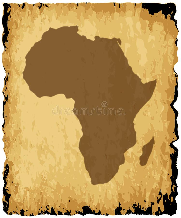 африканская карта старая иллюстрация вектора