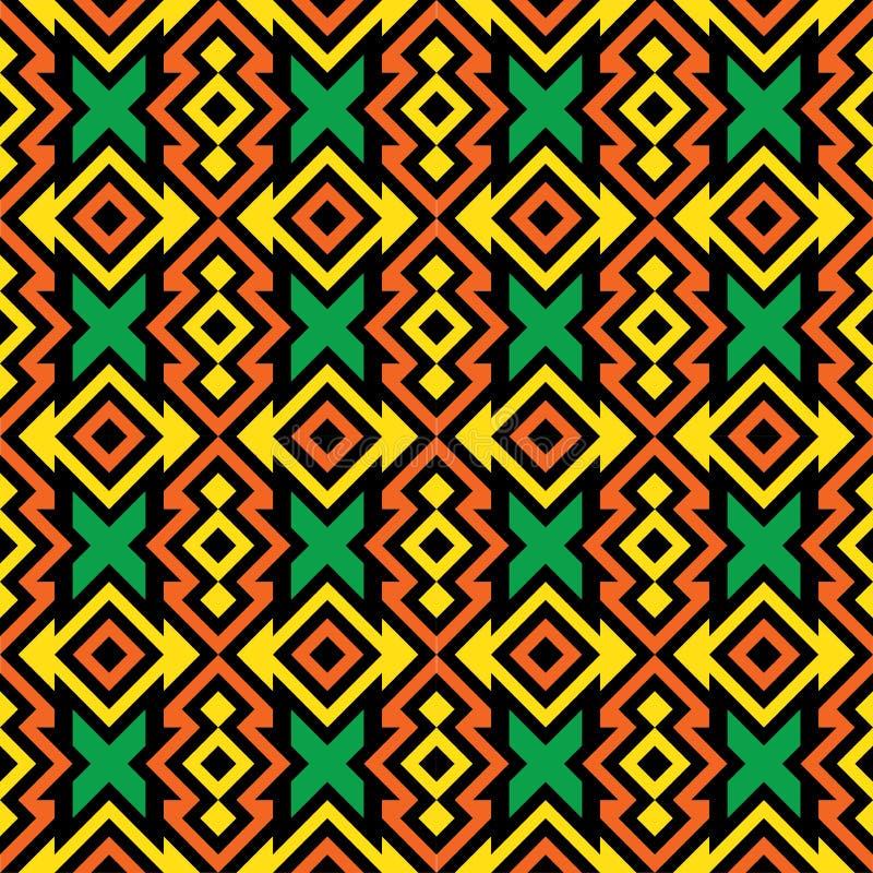 африканская картина безшовная иллюстрация штока