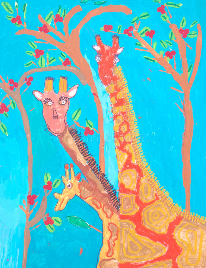 африканская картина ребенка искусства иллюстрация штока
