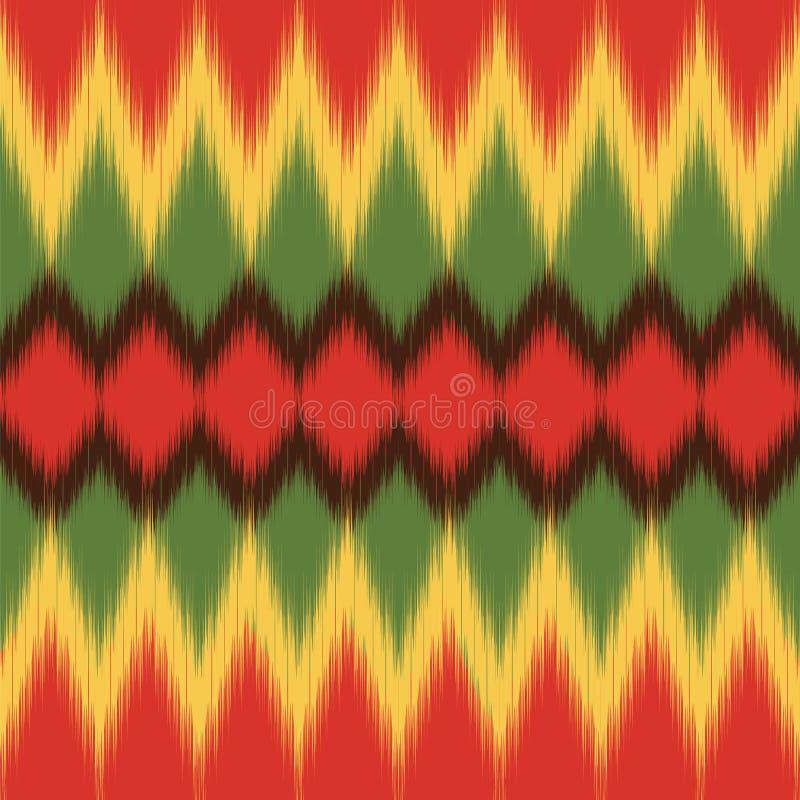 африканская картина Этническая ткань Печать Ikat Обои вектора стоковое изображение rf