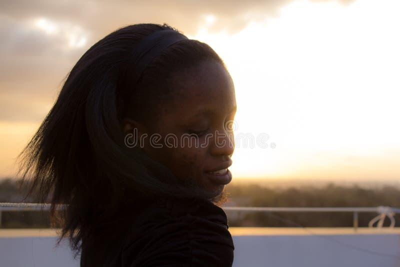 африканская красивейшая женщина стоковое фото rf