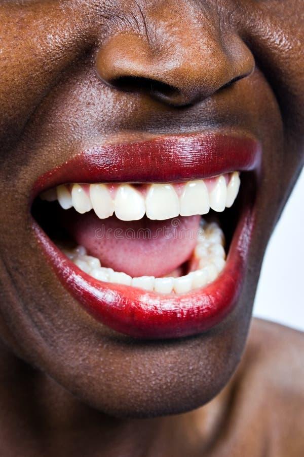 африканская кричащая женщина Стоковые Фото