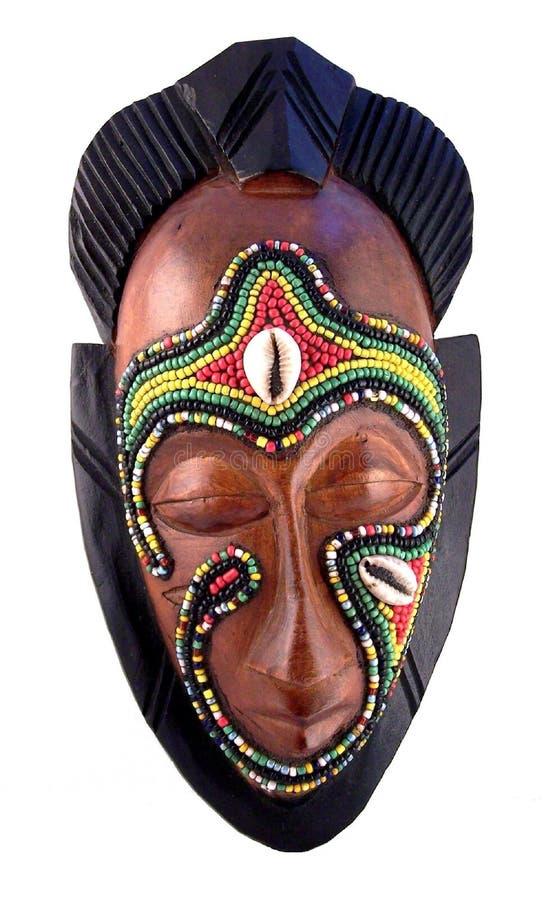 Африканская маска изолированная на белой предпосылке стоковая фотография rf
