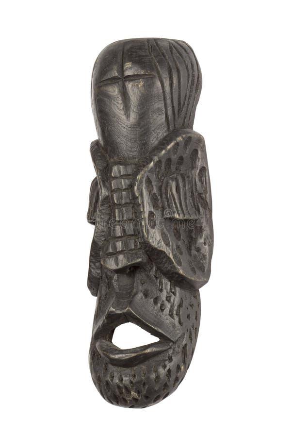 Африканская маска изолированная на белизне стоковое фото rf