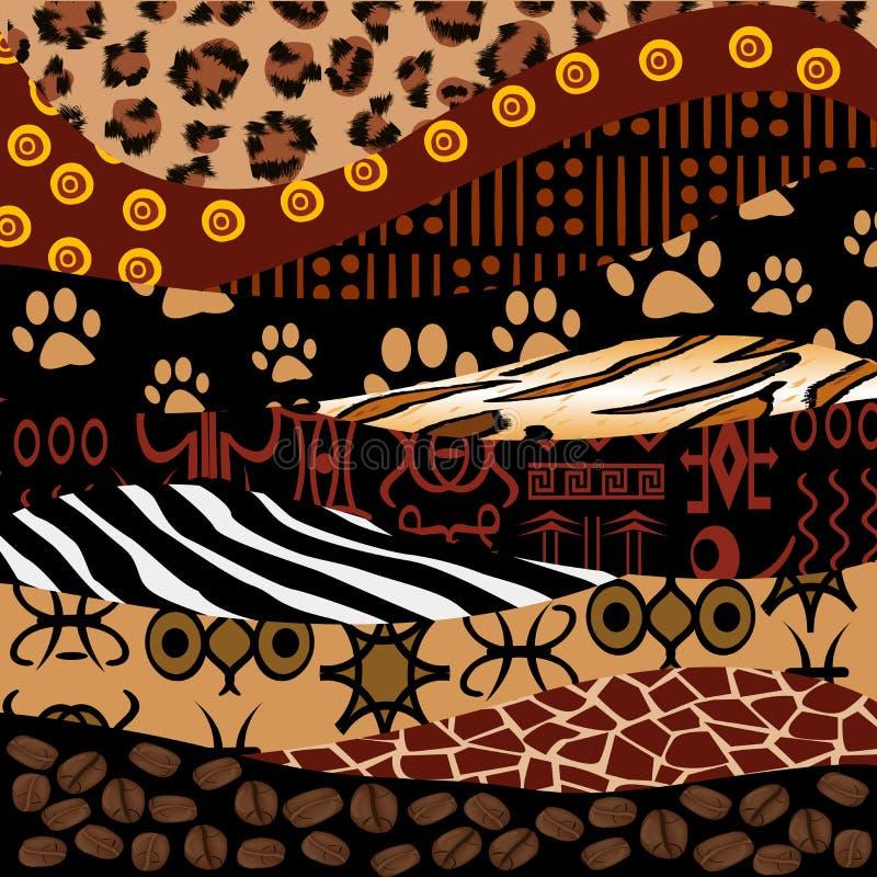 Африканская предпосылка дизайна иллюстрация штока