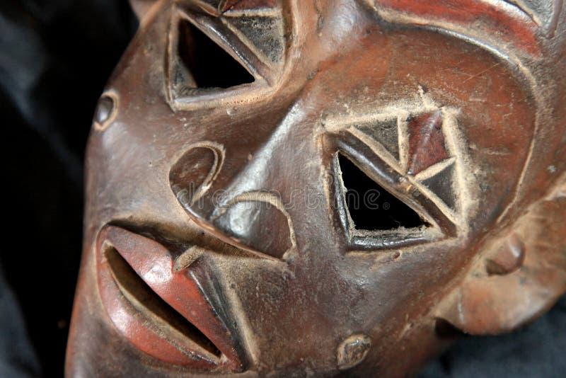Африканская соплеменная маска - триба Luba стоковое изображение rf