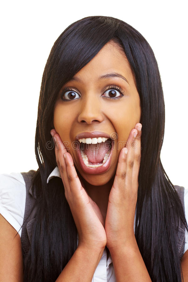 африканская удивленная женщина стоковые фото