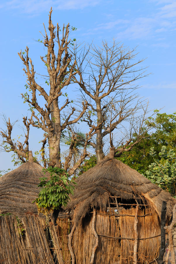 африканская хата стоковое фото
