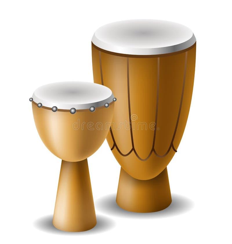 Африканские барабанчики племени иллюстрация вектора