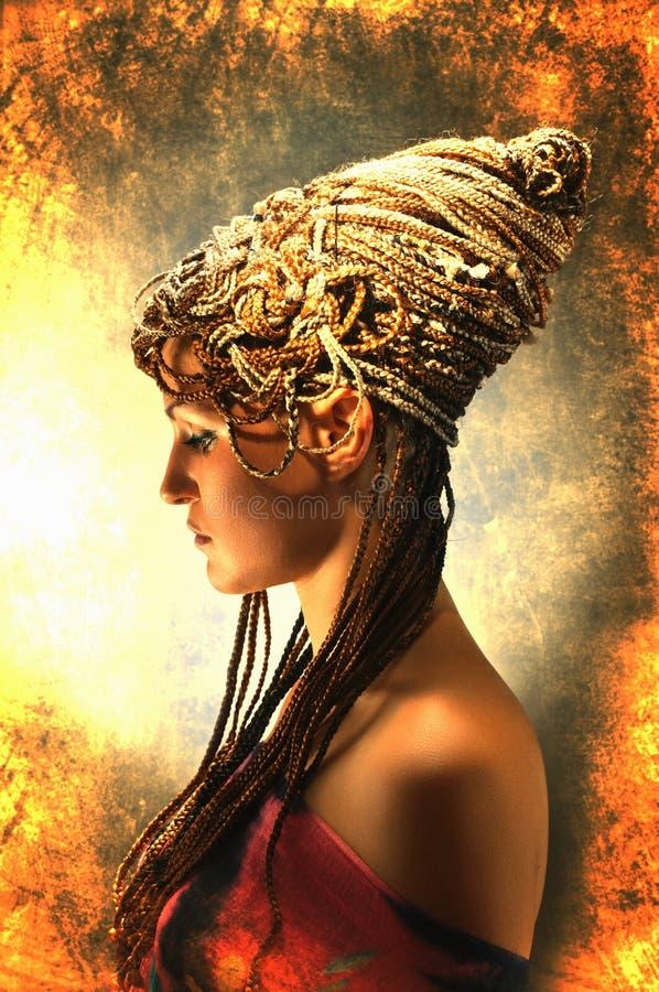 африканские косички девушки стоковое фото rf