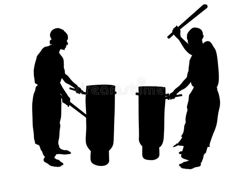 Африканские музыканты 4 бесплатная иллюстрация