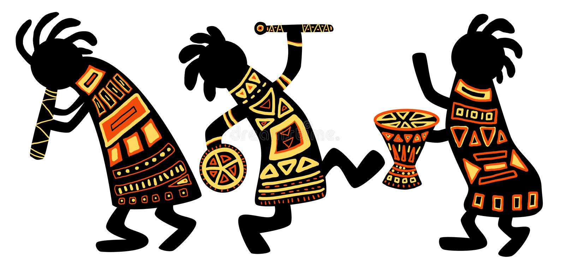 африканские национальные картины иллюстрация вектора