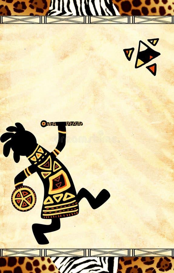 африканские национальные картины иллюстрация штока