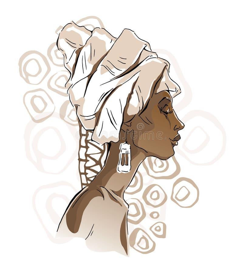 Африканские портреты женщины иллюстрация вектора