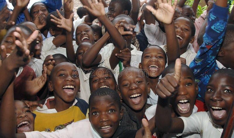 Африканские ребеята школьного возраста стоковое фото