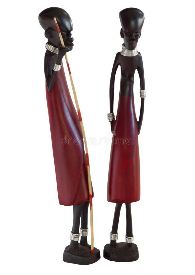 Африканские статуэтки стоковая фотография rf