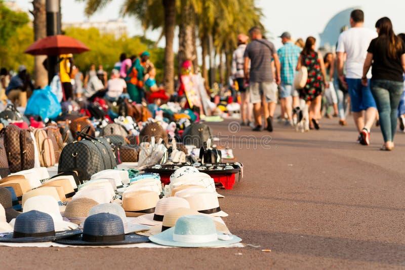 африканские уличные торговцы переселенцев вызвали стоковые изображения