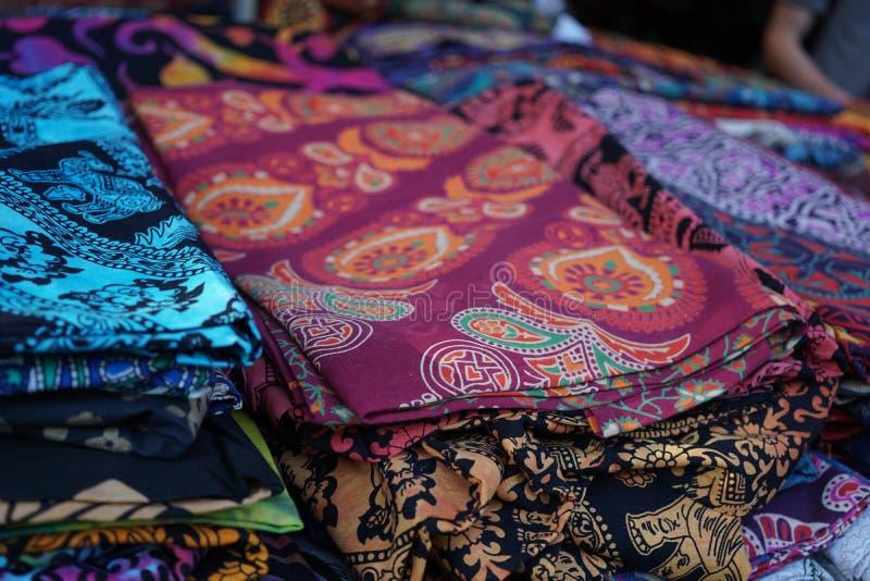 африканские цветастые ткани стоковое фото rf
