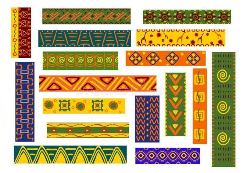 Африканские этнические орнаменты и декоративные картины бесплатная иллюстрация