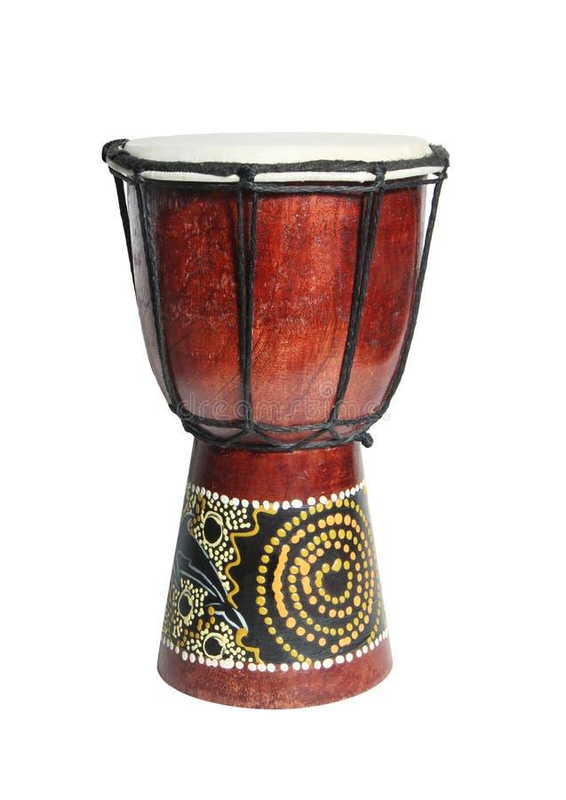 Африканский барабанчик изолированный на белой предпосылке стоковые фотографии rf