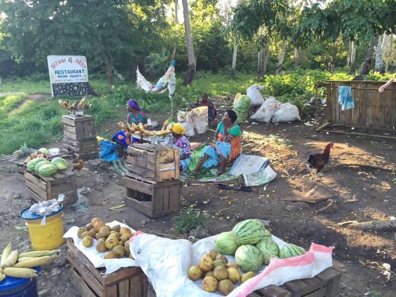 Африканский захолустный рынок обочины стоковая фотография